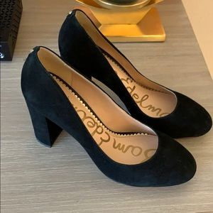 Sam Edelman Black Suede Stillson Pumps